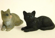 Dolls House Miniature Cats x2 (XZ561)