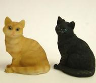 Dolls House Miniature Cats x2 (XZ563)