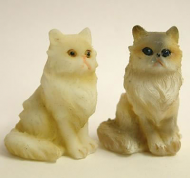 Dolls House Miniature Cats x2 (XZ565)
