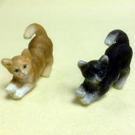 Dolls House Miniature Set of 2 Cats (XZ573)