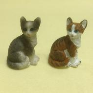 Dolls House Miniature Set of 2 Cats (XZ574)