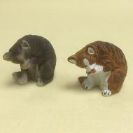Dolls House Miniature Set of 2 Cats (XZ576)