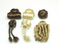Pack of 6 Assorted Teenagers Dolls Wigs, Dolls House Miniature (XZ806)