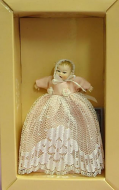 Heidi Ott Dolls House Doll, Baby in a Long Pink Gown (XB014)