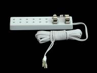 Dolls House Six Socket Extension Cord (YL9072)