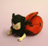 Heidi Ott Dolls House Doll, Baby in a Ladybird Suit (XB024)